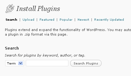 wordpress install-plugin-page