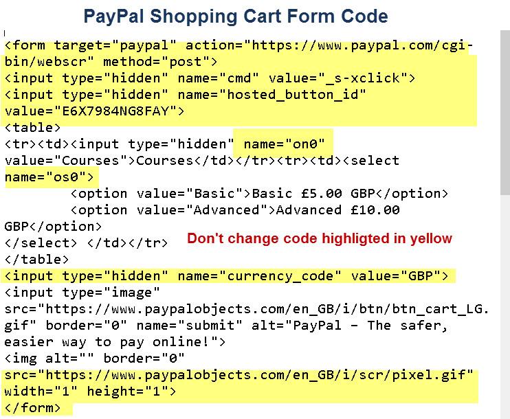 paypal-shopping-cart-code