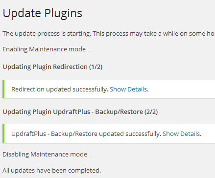 Wordpress plugin-update-progress