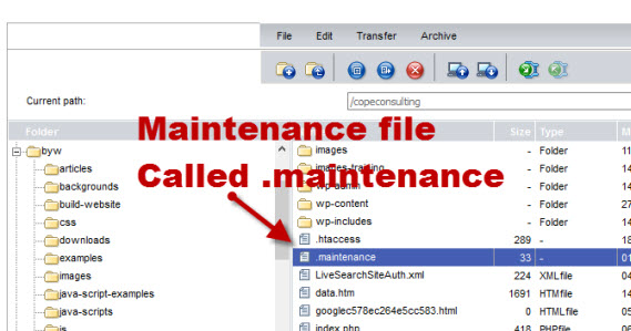 wordpress-maintenance-file
